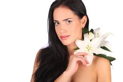 Beauty Spa Woman Portrait. Beautiful Girl Isolated Stock Photos