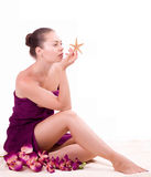 Beauty spa woman in towel Stock Photos