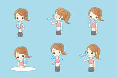 Beauty sport woman is drinking. Water healthy Royalty Free Stock Photo