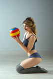 Beauty sport woman training Stock Photo