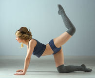 Beauty sport woman training Stock Images