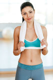 Beauty in sports club. Stock Photography