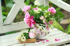Beauty spring bouquet and book Stock Images