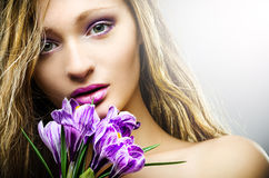 Beauty spring portrait Royalty Free Stock Images