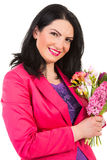 Beauty spring woman with flowers Stock Photography