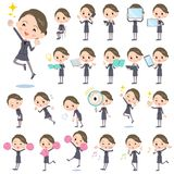 Beauty staff women_2. Set of various poses of Beauty staff women_2 Royalty Free Stock Photo