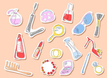 Beauty stickers Stock Image