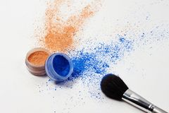 Beauty still life cosmetics. make-up Stock Image