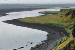 Beauty stony beach on hunafjordur Royalty Free Stock Image