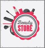 Beauty store emblem Royalty Free Stock Photos