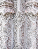 Beauty stucco in the traditional Thai style. Royalty Free Stock Photo
