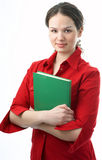Beauty student with book Stock Photos
