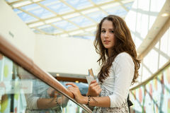 Beauty student in campus Royalty Free Stock Photo