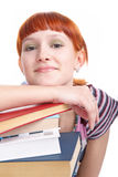 Beauty student girl with book Royalty Free Stock Image