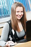 Beauty student girl studying Royalty Free Stock Photos