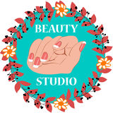 Beauty studio vector illustration Royalty Free Stock Photo
