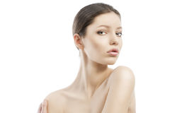 Beauty style face shot, the left shoulder i Stock Photos