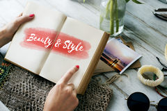 Beauty Style Fashion Text Concept Stock Photography