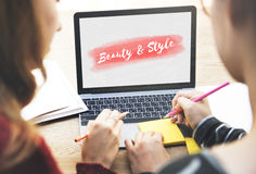 Beauty Style Fashion Text Concept Stock Photos