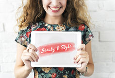 Beauty Style Fashion Text Concept Stock Images