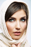 Beauty style female model close up portrait Stock Photos