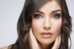 Beauty style female portrait. Royalty Free Stock Photos