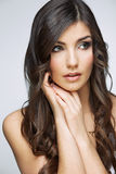 Beauty style female portrait. Royalty Free Stock Images