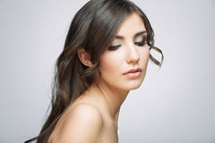 Beauty style female portrait Royalty Free Stock Images