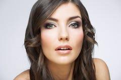 Beauty style female portrait Stock Images