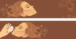 Beauty style. Two decorative banners Stock Photos