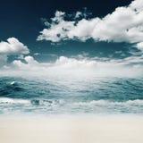 Beauty summer day on the ocean beach Stock Photo