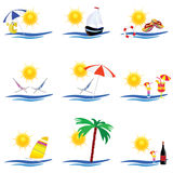 Beauty summer icon vector illustration Royalty Free Stock Photo