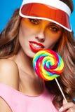 Beauty summer model girl Royalty Free Stock Photography