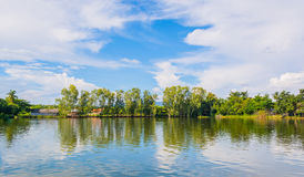 beauty sunny day on the lake with clear sky Royalty Free Stock Images