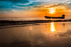 The beauty of sunrise of Songkhla Province, Thailand Stock Image