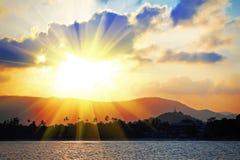 Beauty sunset Stock Photos
