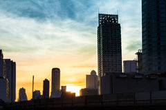 Beauty sunset in the city Stock Photography