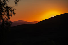 Beauty sunset in the mountains Stock Photo