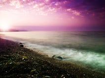 Beauty sunset on the sea. Stock Photos