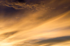 The beauty of the sunset sky in evening Royalty Free Stock Images