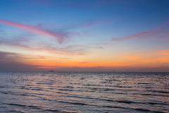 Beauty of sunset sky over coastline Stock Image