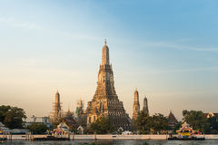 Beauty of sunset at Wat Arun, Bangkok, Thailand Stock Photography