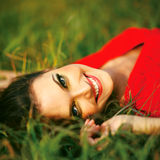 Beauty Sunshine Girl Portrait. Royalty Free Stock Image