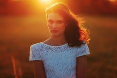 Beauty Sunshine Girl Portrait. Stock Image
