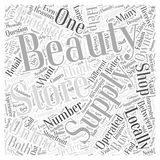 Beauty Supply Stores Is It Better to Shop Locally or Online word cloud concept vector background. Text Stock Images