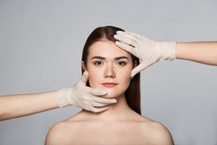 Beauty surgery woman portrait royalty free stock photo