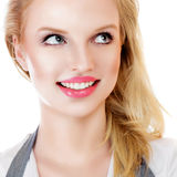 Beauty surprised blonde woman Stock Image