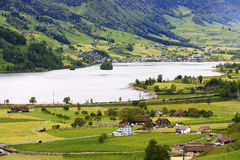 The beauty of the Swiss landscape Royalty Free Stock Photo