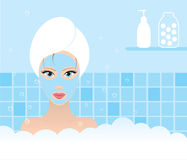 Beauty taking bath Stock Images