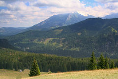 Beauty Tatra Mountains panorama. Beauty Mountain view in Rusinowa Clearing. Tatra Mountains. Poland Royalty Free Stock Images